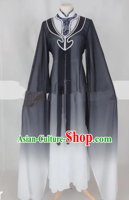 Professional Chinese Traditional Beijing Opera Qin Xianglian Black Dress Ancient Country Lady Costume for Women