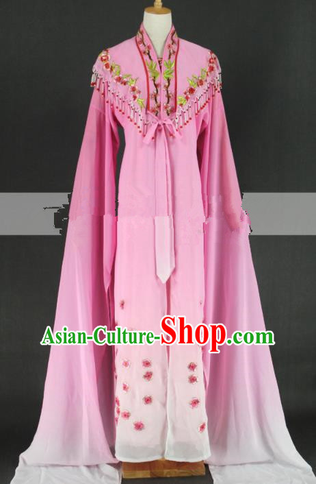 Chinese Traditional Peking Opera Diva Pink Dress Ancient Rich Lady Costume for Women