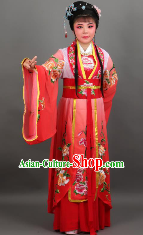 Chinese Traditional Peking Opera Diva Empress Red Dress Ancient Court Queen Costume for Women