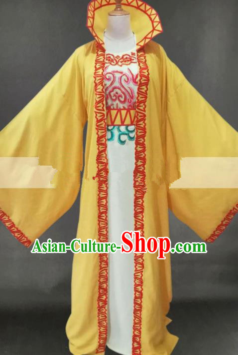 Professional Chinese Traditional Beijing Opera Niche Yellow Clothing Ancient Prince Scholar Costume for Men