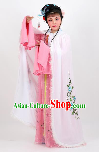 Professional Chinese Traditional Beijing Opera White Cape Ancient Princess Costume for Women