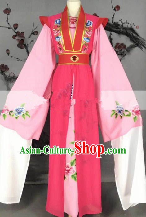 Professional Chinese Traditional Peking Opera Diva Rosy Dress Ancient Palace Princess Costume for Women