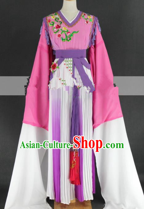 Professional Chinese Traditional Peking Opera Pink Dress Ancient Palace Maid Costume for Women