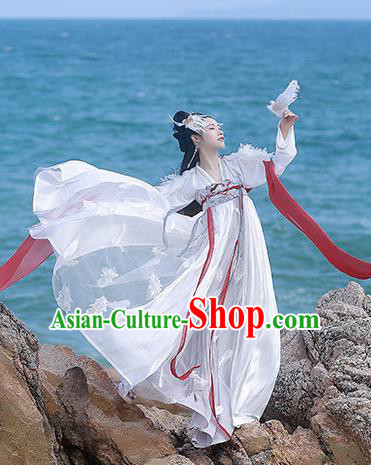 Asian Chinese Tang Dynasty Princess Hanfu Dress Traditional Ancient Myth Goddess Costumes for Women