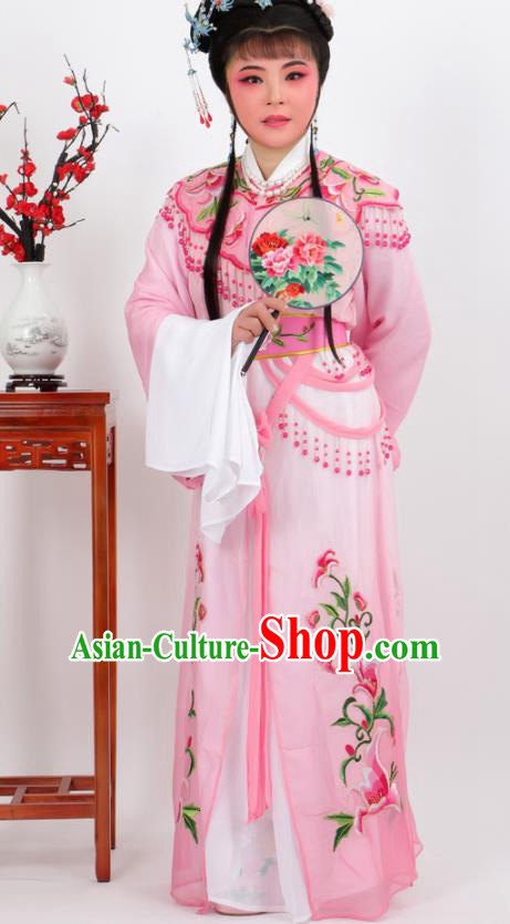 Chinese Traditional Peking Opera Actress Court Princess Pink Dress Ancient Palace Lady Costume for Women