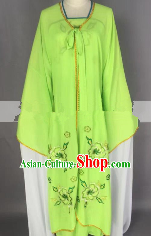 Chinese Traditional Peking Opera Actress Servant Girl Green Dress Ancient Poor Lady Costume for Women