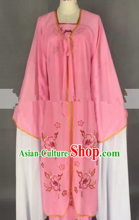 Chinese Traditional Peking Opera Actress Servant Girl Pink Dress Ancient Poor Lady Costume for Women