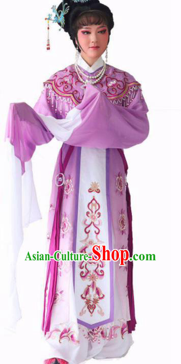 Chinese Traditional Peking Opera Princess Purple Dress Ancient Imperial Consort Costume for Women