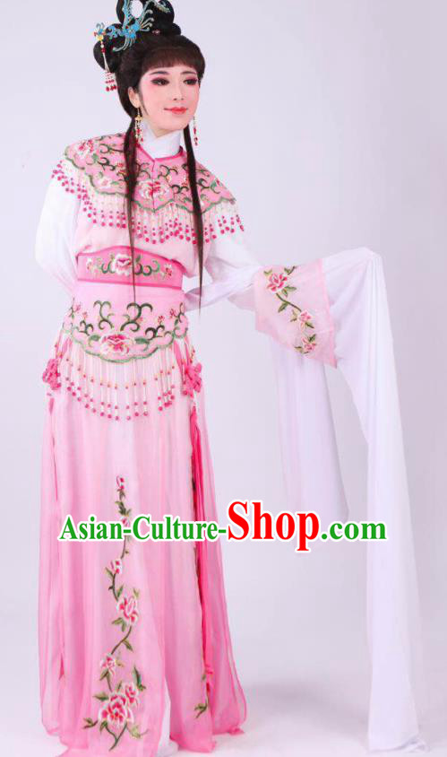 Chinese Traditional Peking Opera Actress Hua Tan Pink Dress Ancient Rich Lady Costume for Women