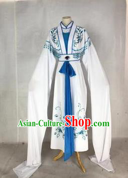 Chinese Traditional Peking Opera Actress Blue Dress Ancient Rich Lady Costume for Women