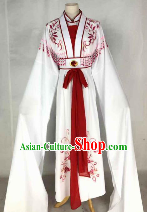 Chinese Traditional Peking Opera Actress Red Dress Ancient Rich Lady Costume for Women