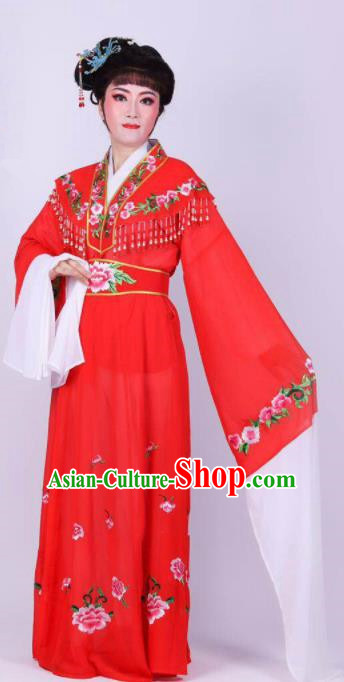 Chinese Traditional Peking Opera Actress Rich Lady Red Dress Ancient Royal Princess Costume for Women