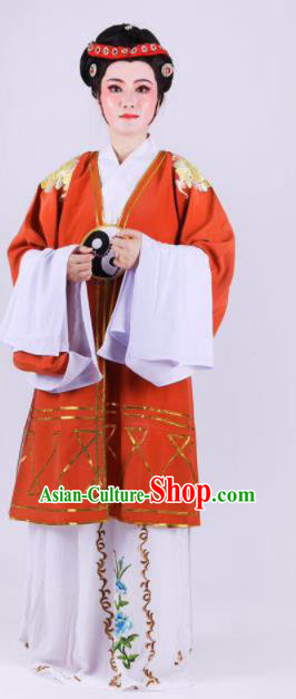 Chinese Traditional Peking Opera Actress Taoist Nun Dress Ancient Dowager Countess Costume for Women