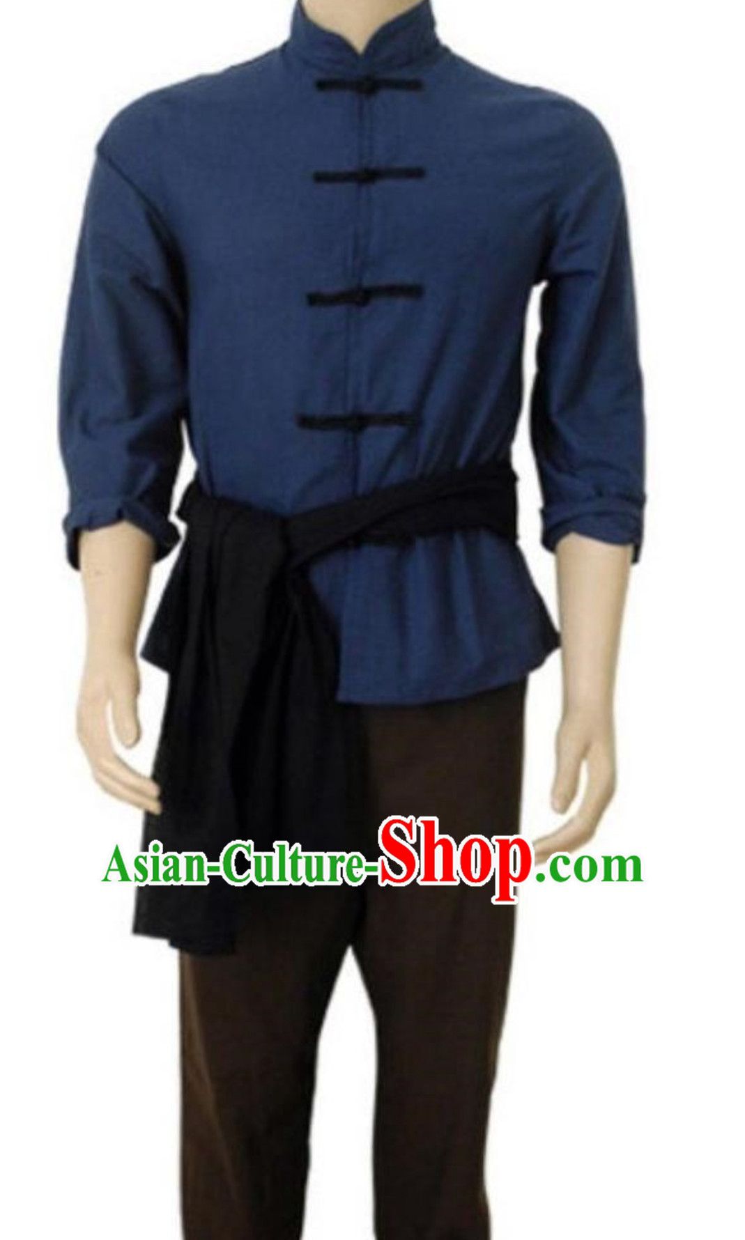 Ancient Chinese Poor People Costume Farmer Costumes Chinese Civilian Costume for Men