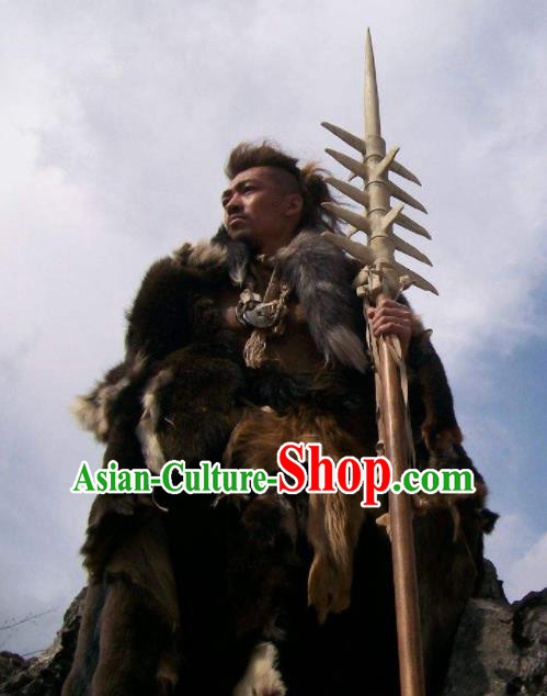 Chinese Ancient Lost Mythology Water God Gong Gong Costumes Complete Set
