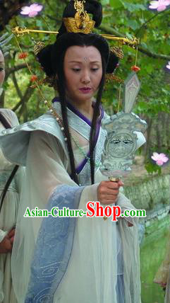 Chinese Ancient Mythology Goddess Hanfu Dress Queen Mother of the West Costumes Complete Set