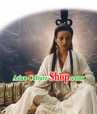 Chinese Ancient Mythology Mother Goddess Nvwa White Costumes Complete Set