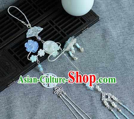 Chinese Traditional Hanfu Court Waist Accessories Ancient Princess Shell Tassel Pendant for Women