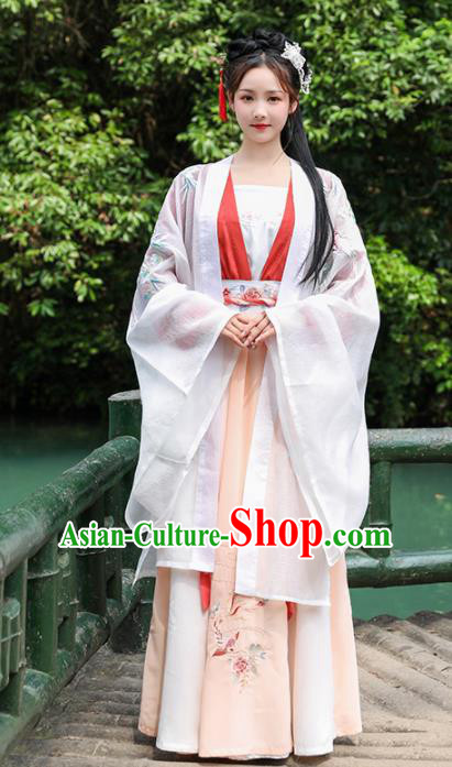 Traditional Chinese Song Dynasty Replica Costumes Ancient Palace Princess Hanfu Dress Complete Set for Women