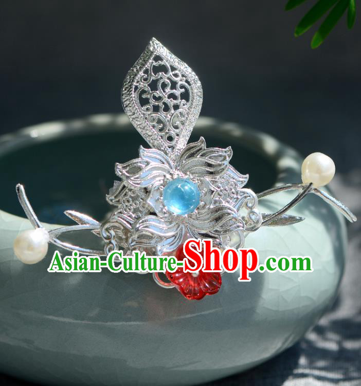 Chinese Ancient Tang Dynasty Palace Princess Hair Crown Hairpins Traditional Hanfu Court Hair Accessories for Women