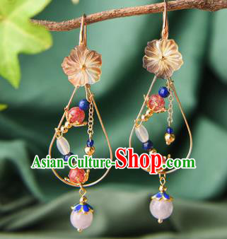 Chinese Traditional Hanfu Court Ear Accessories Ancient Princess Tassel Earrings for Women