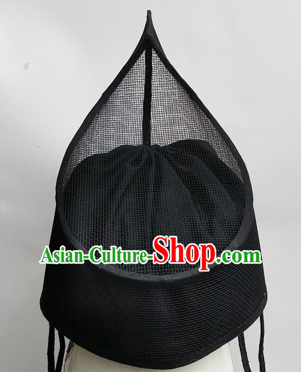 Chinese Traditional Handmade Ming Dynasty Blades Hat Ancient Drama Imperial Guards Headwear for Men