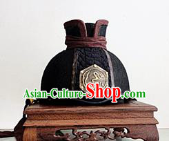 Chinese Traditional Handmade Ming Dynasty Blades Hat Ancient Drama Swordsman Headwear for Men