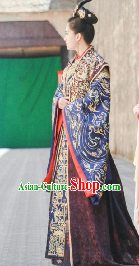 Chinese Ancient Imperial Empress Costumes Drama Jia Feng Xu Huang Traditional Han Dynasty Court Queen Hanfu Dress for Women