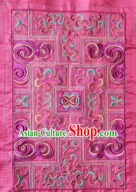 Chinese Traditional Embroidered Pink Applique National Dress Patch Embroidery Cloth Accessories