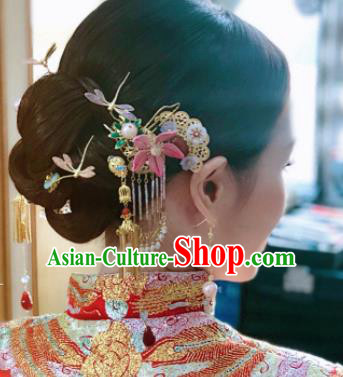 Traditional Chinese Wedding Hair Accessories Ancient Bride Hairpins Complete Set for Women