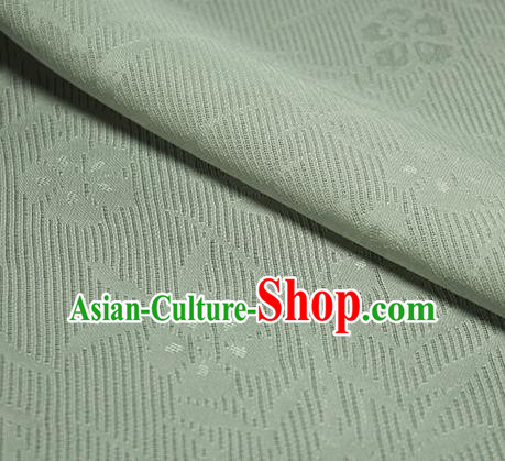Traditional Chinese Classical Orchid Pattern Light Green Silk Fabric Ancient Hanfu Dress Silk Cloth
