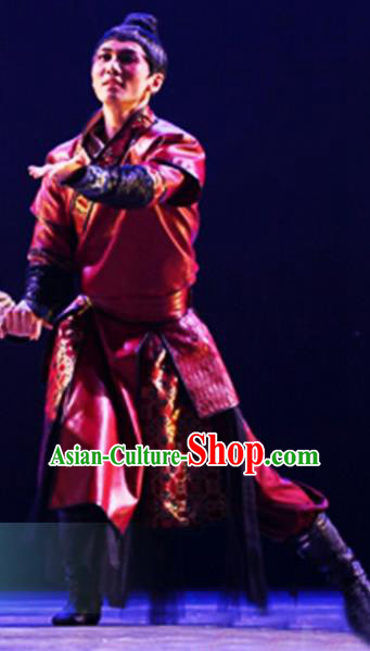 Chinese Traditional Mongol Nationality Costume Mongolian Ethnic Dance Clothing for Men