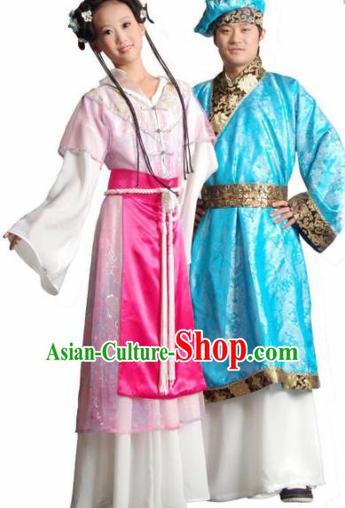 Traditional Chinese Tang Bohu Dance Costumes Folk Dance Fan Dance Stage Show Dress for Women for Men