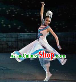 Traditional Chinese Mongol Nationality Costume Mongolian Ethnic Dance Ga Lu Stage Show Dress for Women