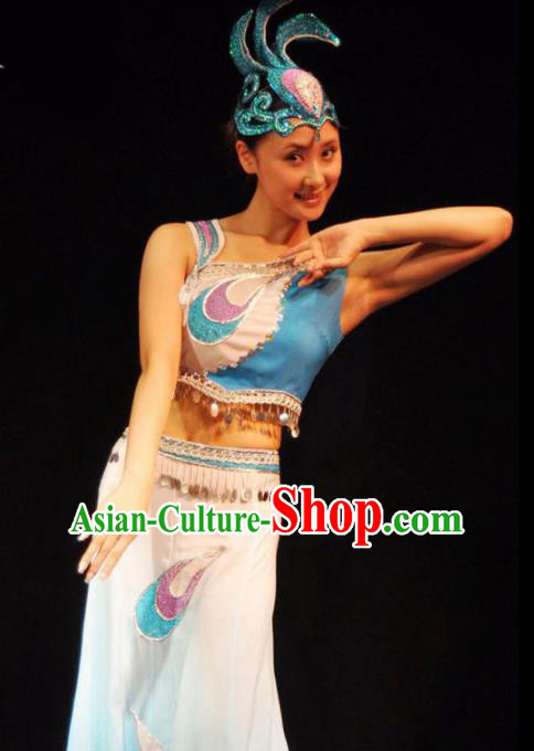 Traditional Chinese Fan Dance Costumes Folk Dance Yangko Dance Stage Show Dress for Women