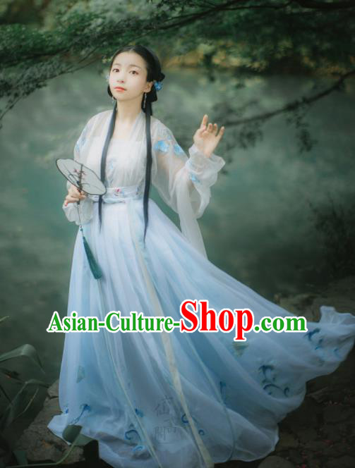 Chinese Song Dynasty Court Lady Hanfu Dress Traditional Ancient Palace Princess Costumes for Women