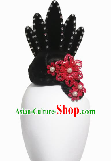 Traditional Chinese Classical Dance Hair Accessories Fan Dance Wig Chignon Headdress for Women