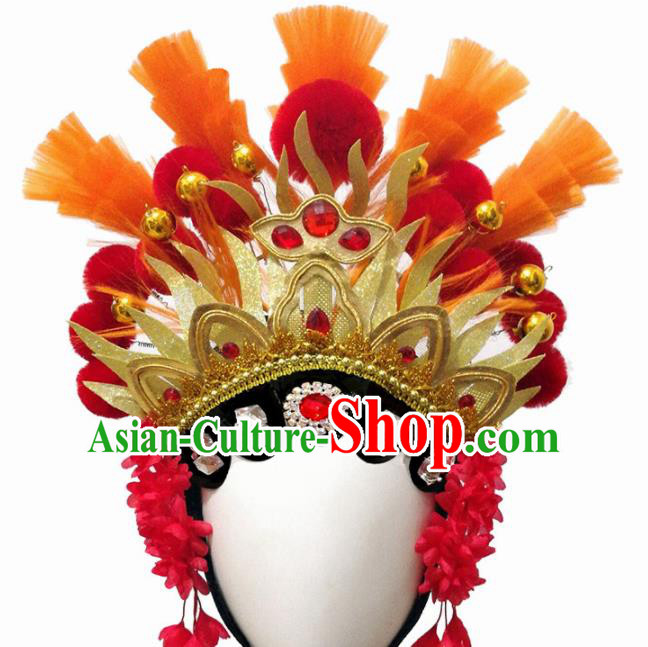 Traditional Chinese Beijing Opera Hair Accessories Classical Dance Wig Chignon Headdress for Women