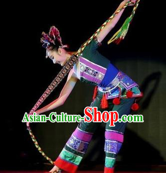 Chinese Traditional Folk Dance Drum Dance Outfits Yangko Group Dance Costume for Women