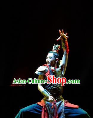 Chinese Traditional Classical Dance Outfits Drum Dance General Group Dance Costume for Men