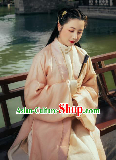 Traditional Chinese Ming Dynasty Palace Princess Hanfu Dress Ancient Court Lady Replica Costumes for Women