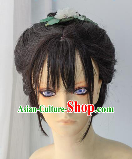 Chinese Traditional Cosplay Palace Lady Hair Wigs Ancient Swordswoman Wig Sheath Hair Accessories for Women