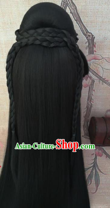 Chinese Traditional Cosplay Han Dynasty Princess Wigs Ancient Court Lady Wig Sheath Hair Accessories for Women