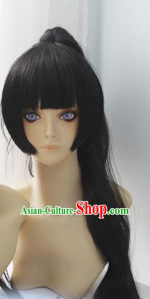 Chinese Traditional Cosplay Hair Wigs Ancient Female Swordsman Wig Sheath Hair Accessories for Women