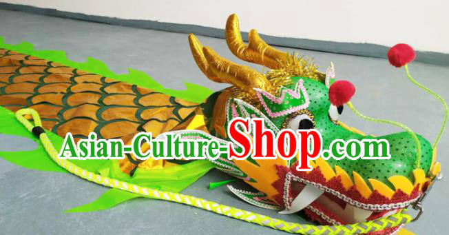 Chinese Folk Dance Dragon Dance Competition Green Dragon Head Traditional Dragon Dance Prop for Adult