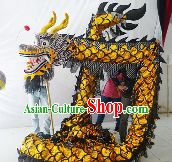 Chinese New Year Dragon Dance Competition Dragon Head Traditional Dragon Dance Prop Complete Set for Adult