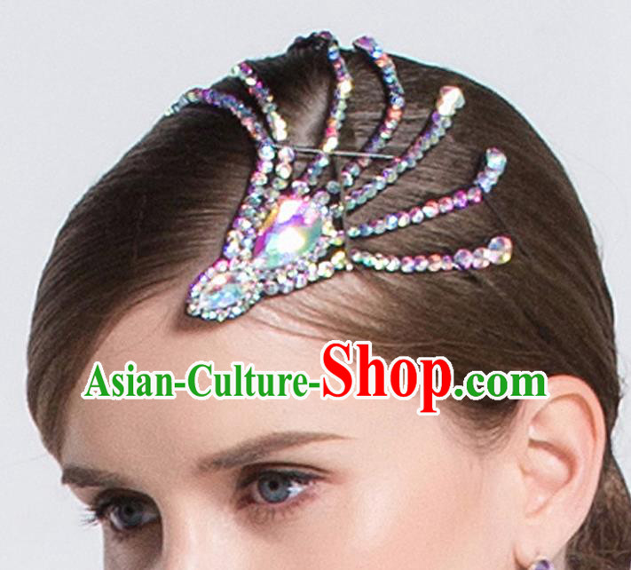 Top Grade Latin Dance Competition Hair Accessories Modern Dance International Ballroom Dance Hair Claw for Women