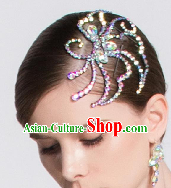 Top Grade Latin Dance Competition Hair Claw Modern Dance International Ballroom Dance Hair Accessories for Women