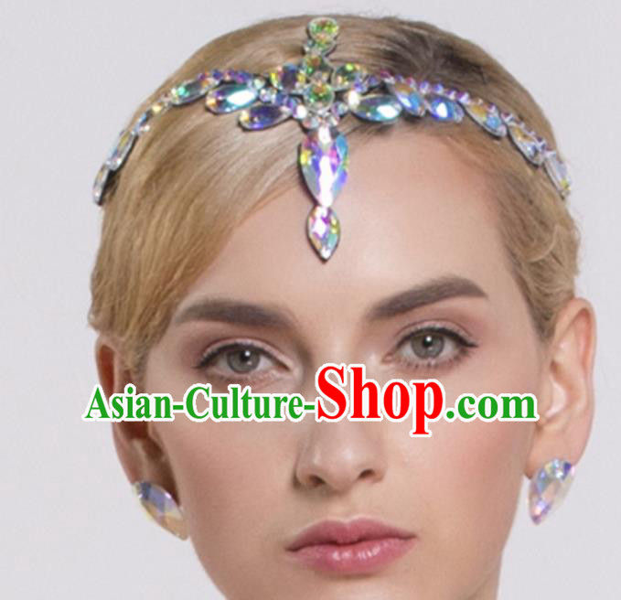 Handmade Latin Dance Competition Hair Clasp Modern Dance International Rumba Dance Hair Accessories for Women