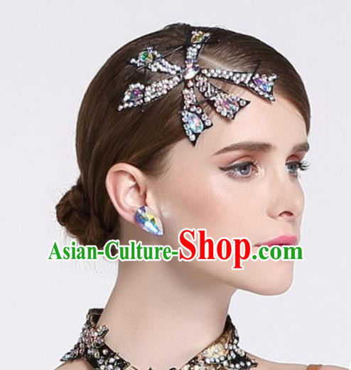 Handmade Latin Dance Competition Hair Stick International Rumba Dance Hair Accessories for Women